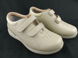 Drew Lotus Women's Walking Shoes Bone Beige Leather Size 7.5W 14631-32