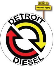 "Detroit Diesel Turbo NHRA Racing 3.5"" x 3.5"" Chev Ram Tractor Decal Sticker p177"