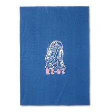 "Star Wars Throw R2-D2 60"" x 90"" Sweatshirt Blanket Blue Bed (Twin)"