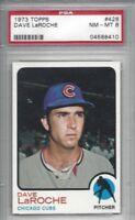 1973 Topps baseball Card #426 Dave LaRoche, Chicago Cubs graded PSA 8 NMMT