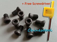 12pcs M6 x 18mm Insert Torx Screw for Carbide Inserts Lathe Tool & Screwdriver