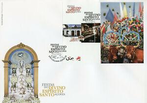 Portugal Cultures Stamps 2020 FDC Festivals Divino Espirito Santo Azores 1v M/S