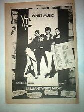 XTC White Music Album & Tour dates 1978  UK Poster size Press ADVERT 16x12 inch