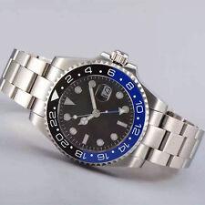40mm Parnis Black blue Ceramics Bezel Sapphire Glass GMT Automatic Date Watch