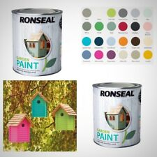 Ronseal RSLGPD250 Garden Paint  250ml 15 COLOURS Furniture Shed Ornaments diy