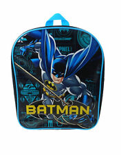 DC Comics Batman Blueprint PV Mochila Bolso Escolar Morral Negro Y Azul