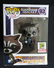 SDCC Comic Con 2015 Funko Pop! Rocket Racoon Potted Groot Marvel NIB Sealed