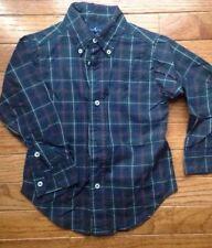 Ralph Lauren ~ Boy's Plaid Shirt ~ Navy Blue Green ~ 2 2T ~ Mint!