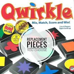 Qwirkle Replacement Wood Tiles / Blocks Individual Game Pieces As Low As 0.59 Ea