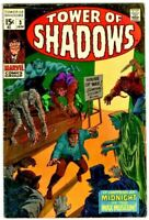 Tower of Shadows # 3  Marvel 15 Cent Silver-Age Horror Comic Jan.1969 VG+