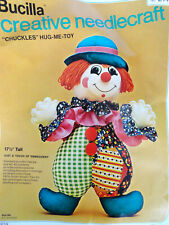 VTG 1975 Bucilla CHUCKLES Clown Hug Me Toy Doll Kit 2146 Sewing Embroidery