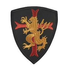 seal team six lion crusader cross shield embroidered navsoc touch fastener patch