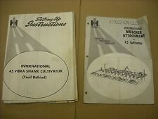33 x 43 Poster International Harvester 45 Cultivator Setting Up Instructions