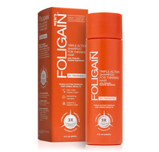 Foligain Triple Action Shampoo for Thinning Hair for Men with 2% Trioxidil 8oz