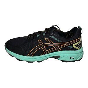 Asics Gel Venture 7 Women's Black Mint Orange 1012A476 Trail Running Shoes 7.5W