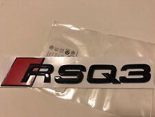 AUDI RSQ3 Trasero Arranque Tronco Insignia emblema logo negro brillante