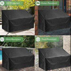 Outdoor Garden Bench Sofa Cover for 2  Seater Black UV Resistant Waterproof Rain