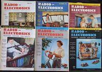 Lot of 6 Vintage Radio & Electronics Magazines 1954-1956
