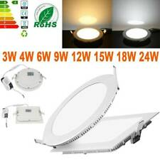 3W-24W Ultra Slim Dimmable LED Recessed Ceiling Panel Down Lights Home Fixture