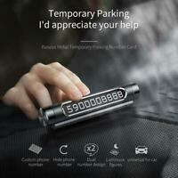 Baseus Car Luminous Temporary Parking Card Rotatable Phone Number Plate Sticker