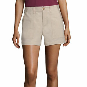 "a.n.a. Women's Hi Rise 5"" Embroidered Shorts Size 8 Creme Brulee Color NEW"