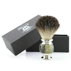 Luxury Mens Shaving Barber Salon Brush Best Black Badger Hair Comfort Brass Grip