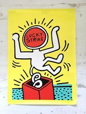 Keith Haring Art Canvas Print ``LUCKY STRIKE`` Harlem Graffiti Classic Fashion