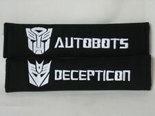 Seat Belt Cover Shoulder Pad Embroidery Transformers Decepticon Autobot Insignia