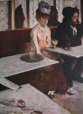 "Degas Absinthe 1876 Art Reproduction /1952 Lithograph Sz 7 3/8"" x 10"""