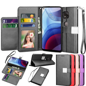 For Motorola Moto G Power 2021/G play 2021 Wallet Case Flip Leather Card Cover