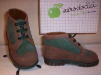 Scarpe alte polacchini scarponcini Zerododici bimbo bambino primi passi pelle 21