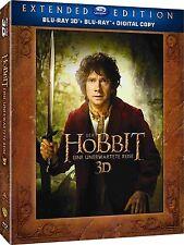 DER HOBBIT, EINE UNERWARTETE REISE, Extended Edition (Blu-ray 3D + Blu-ray) NEU