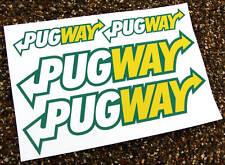 'PUGWAY' 4 stickers Peugeot GTi 106 306 206 207 Rallye