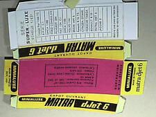 REPLIQUE SOCLE DE BOITE MATRA JET6  MINIALUXE 1967