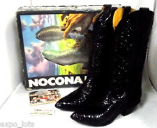 Nocona Snake Boots ** Black ** Size 5 1/2 With Box