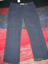 Girls Bella Dahl Navy Corduroy Studded Pants Size 28 x 25 NWT CUTE