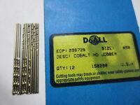 12 pcs GREENFIELD # 59 Jobber Length HSCo Twist Drill Bits M42 HSS Cobalt USA