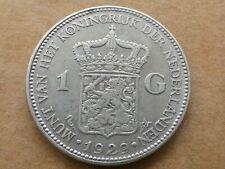 1 gulden, Wilhelmina, 1929, zilver, zeer fraai
