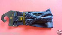 "Countess Mara Men Bow Tie with Pocket Square Navy Blue Set (4.5"" x 2"")"