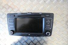 SKODA OCTAVIA MK2 GENUINE RADIO STEREO BLUETOOTH MP3 DISPLAY HEAD UNIT 2009-2013
