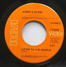 Rock 45 Zager & Evans - Listen To The People / She Never Sleeps Beside Me On Rca