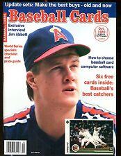 Baseball Cards Magazine October 1989 Jim Abbott w/Mint Cards jhscd3