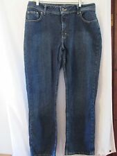 Lee Riders Ladies Stretch Blue Jeans Boot Cut Size 18 Misses Med