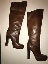 Lanvin KH Brown Boots Size 37 / 4 Worn Once