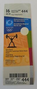 2004 Athens Olympic Games, weightlifting unused ticket, code: 444