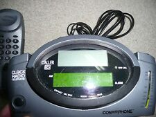 CONAIRPHONE - Telephone Clock Radio w/ Caller ID, Model CID400-Gray