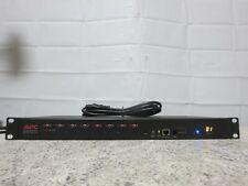 APC 8-Port Multi Platform Analog High Density KVM Switch AP5201 Rack Ears & Cord