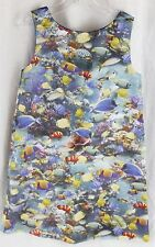 Girls CHARABIA Fully Lined Dress Sea Life Tropical Fish Aquarium Size 6 Boutique