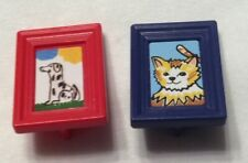playmobil framed pictures cat and dog mansion castle dollhouse