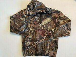 RedHead Camouflage Fleece Pullover Hooded Sweatshirt Men's Size Small